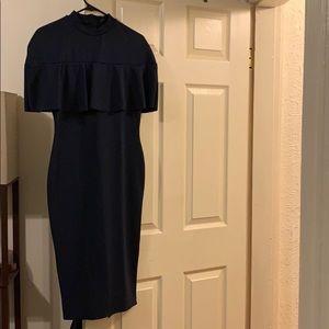Misguided midi blue dress